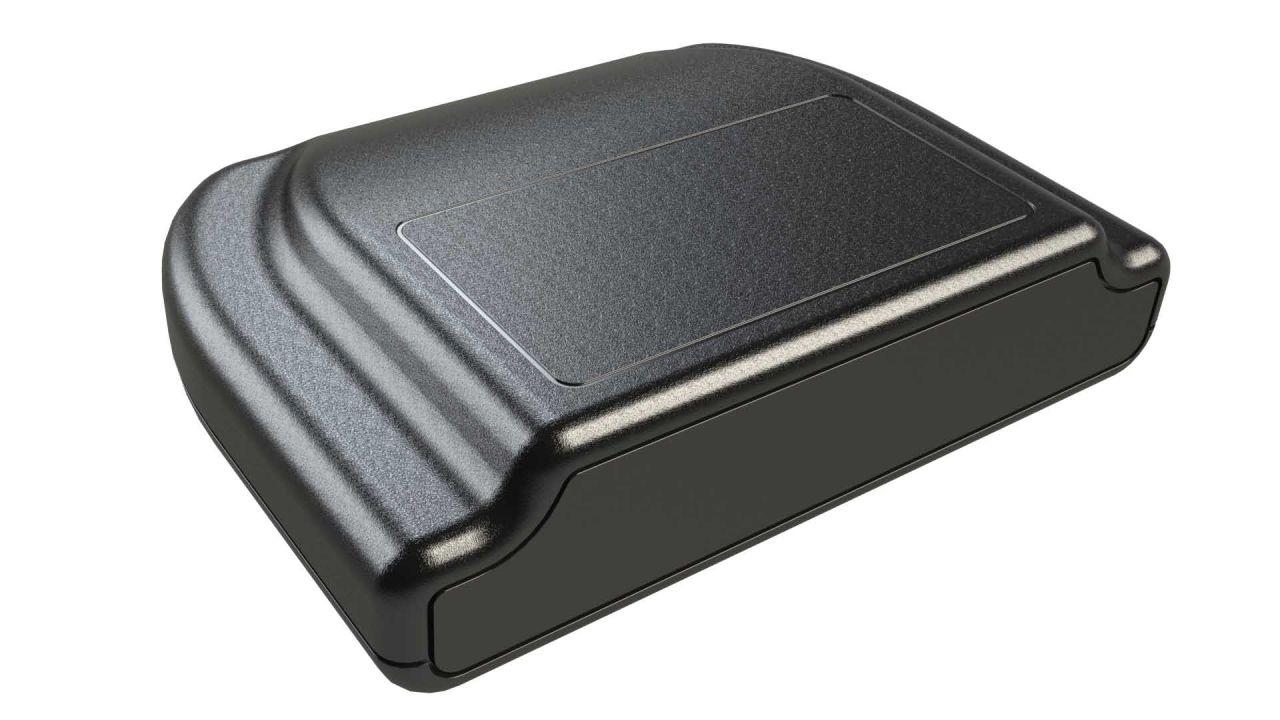 AG-54 Black Plastic Desktop Enclosure - 4 x 5.5 x 1.38 inches