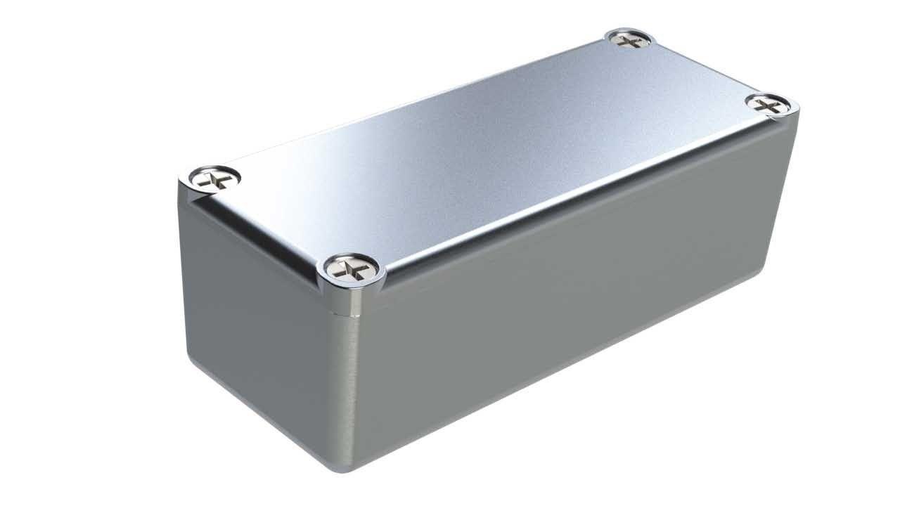AL-23P diecast aluminum enclosure for electronics - 3.62 x 1.5 x 1.21 inches
