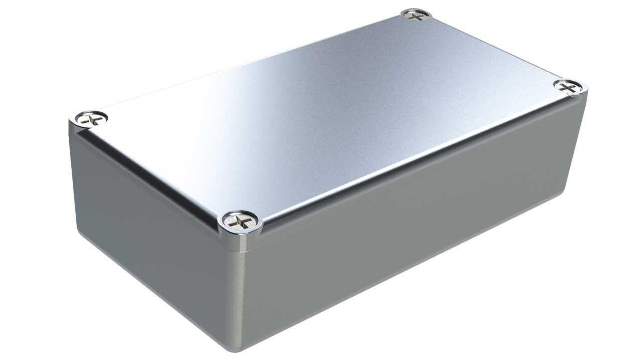 AL-24P diecast aluminum enclosure for electronics - 4.37 x 2.37 x 1.21 inches
