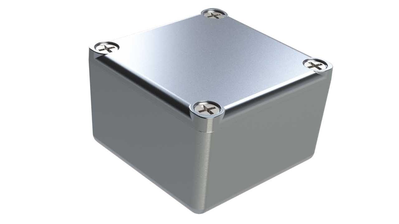 AL-70P diecast aluminum enclosure for electronics - 2 x 2 x 1.25 inches