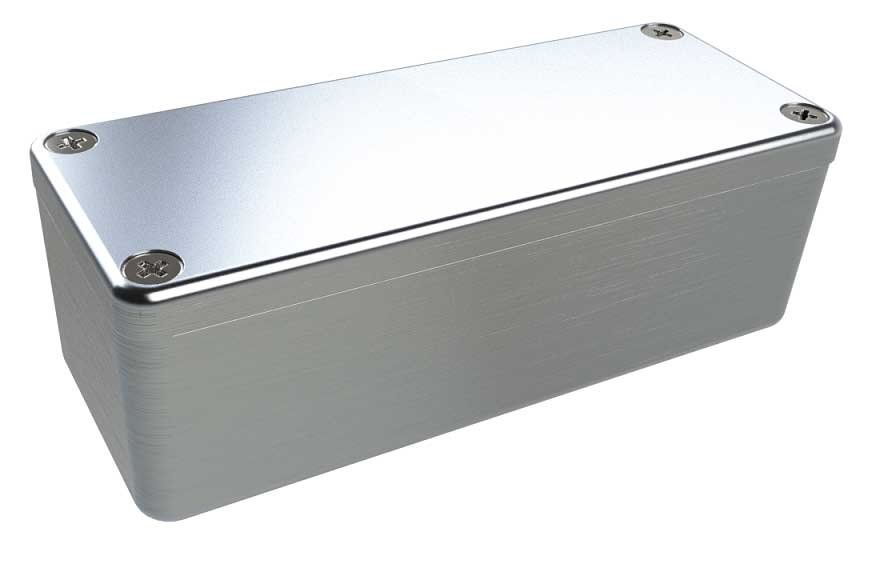 AN-00P Natural diecast aluminum enclosure for electronics - 3.54 x 1.42 x 1.18 inches