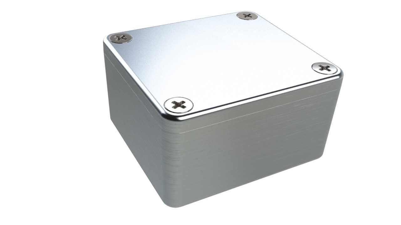 AN-01P Natural diecast aluminum enclosure for electronics - 2.52 x 2.28 x 1.38 inches