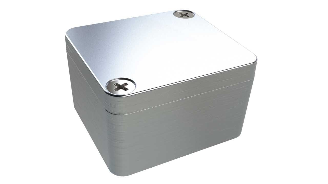 AN-11P Natural diecast aluminum enclosure for electronics - 1.97 x 1.77 x 1.12 inches