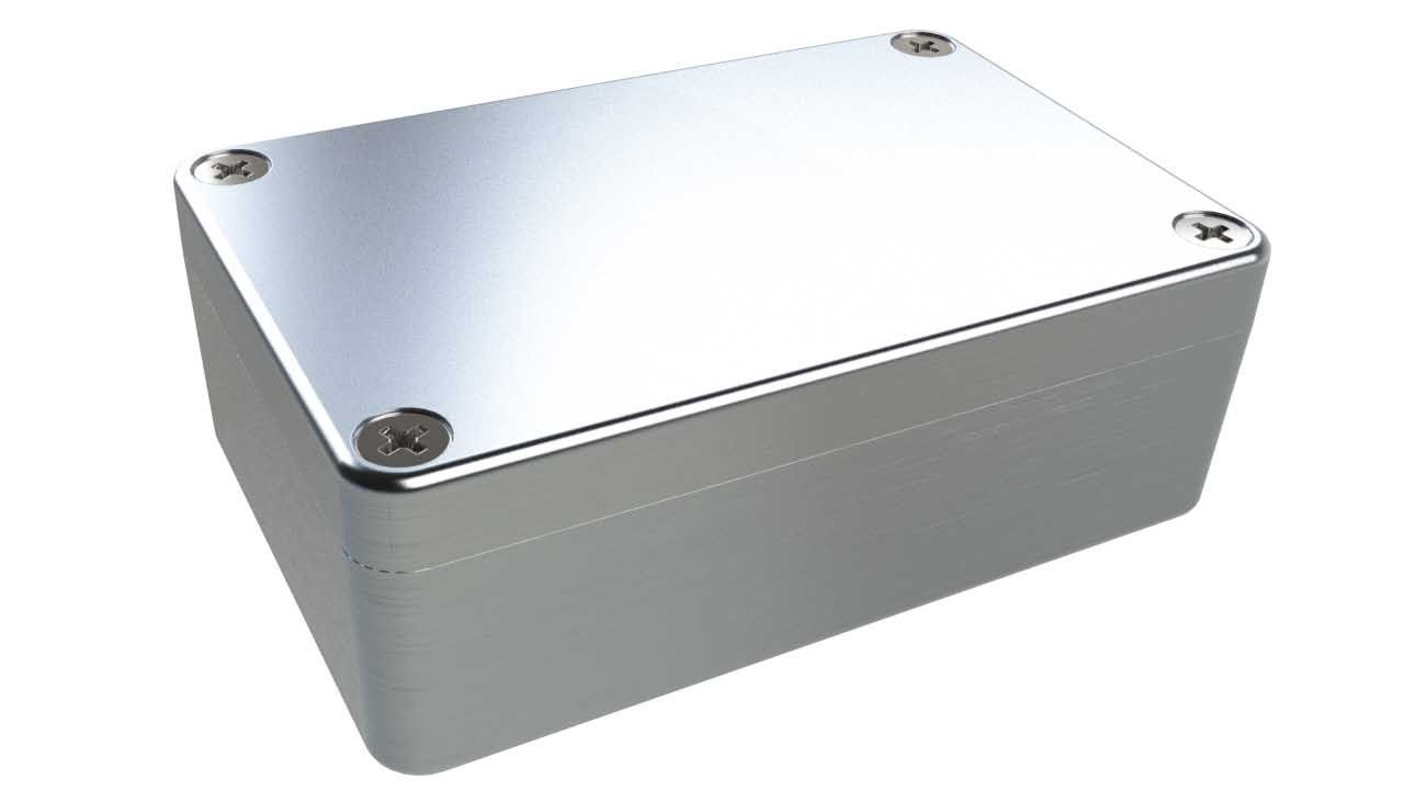 AN-12P Natural diecast aluminum enclosure for electronics - 3.85 x 2.52 x 1.35 inches