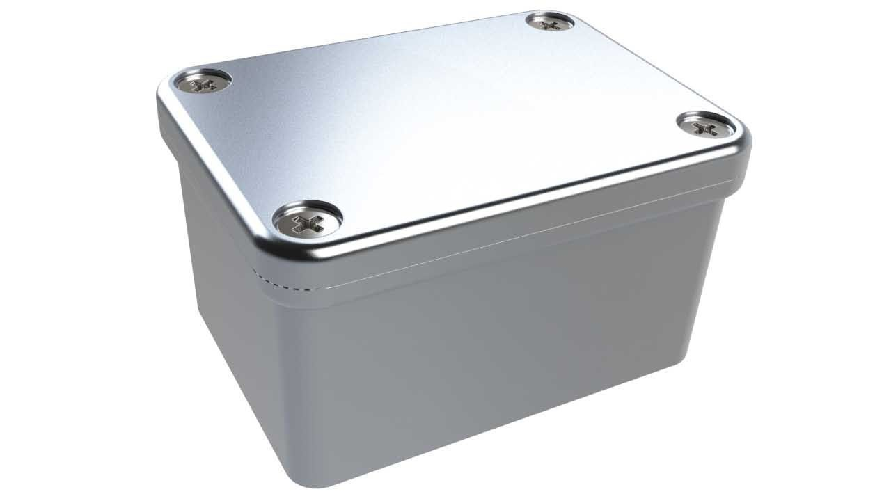 AN-18P Natural diecast aluminum enclosure for electronics - 2.19 x 1.61 x 1.22 inches