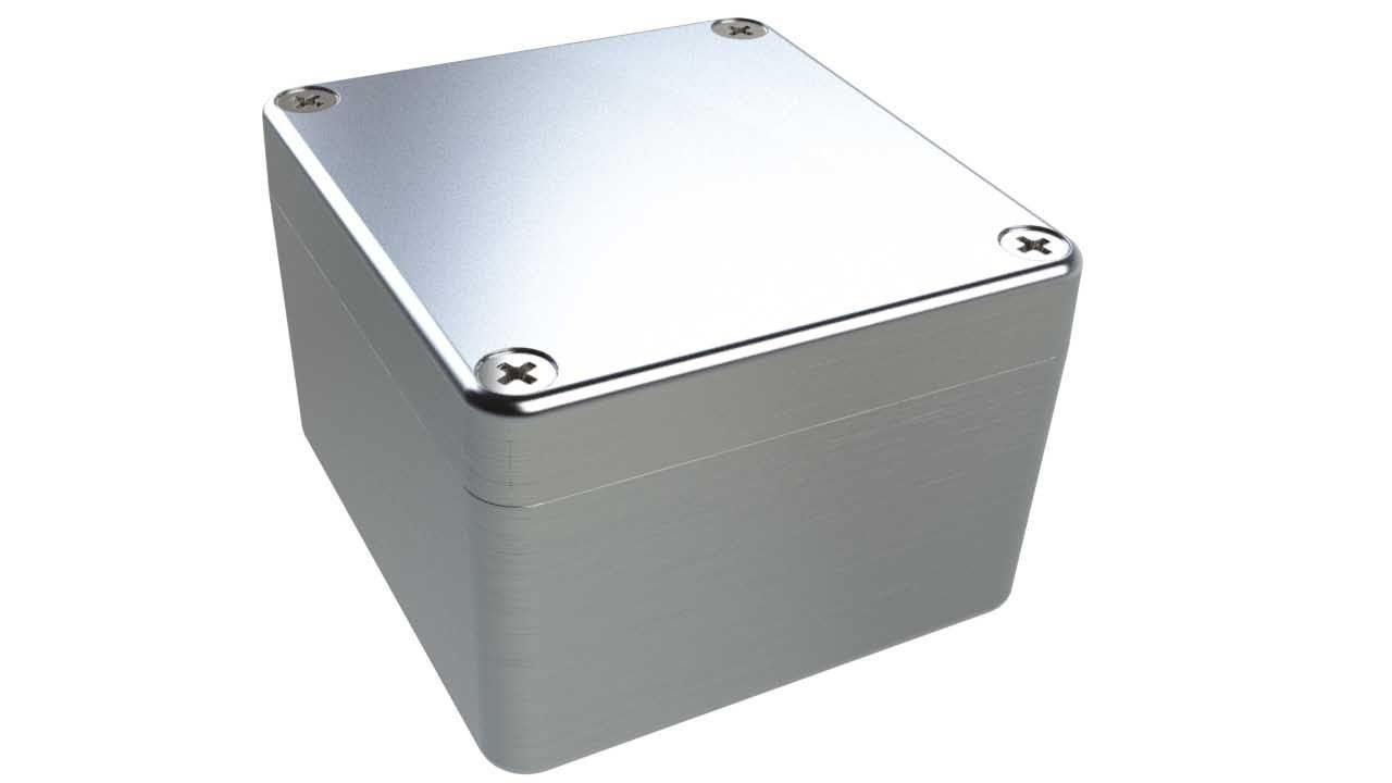AN-19P Natural diecast aluminum enclosure for electronics - 3.13 x 2.93 x 2.05 inches