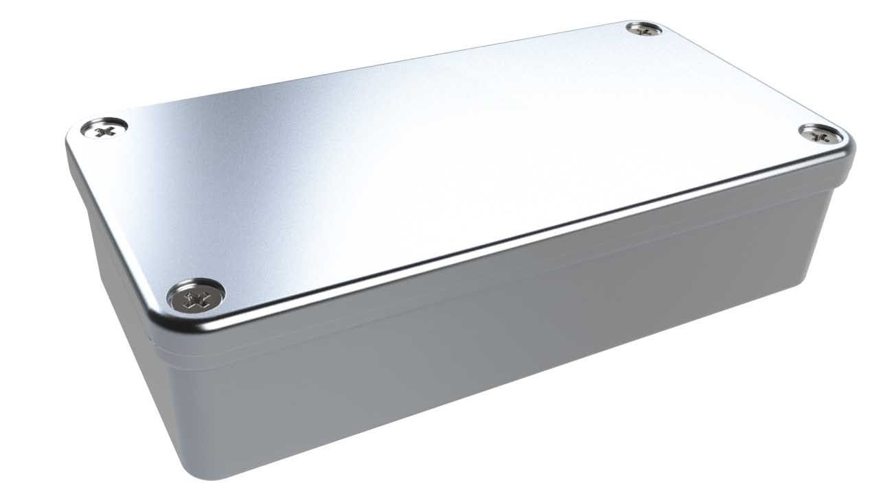 AN-20P Natural diecast aluminum enclosure for electronics - 4.04 x 2.07 x 1 inches