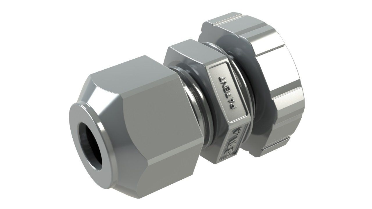 Gray plastic cable glands for enclosures - rated NEMA 4X & 6P