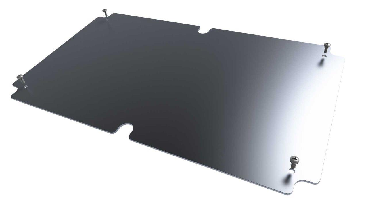 DC-96K internal aluminum mounting panel for DC series electronics enclosures