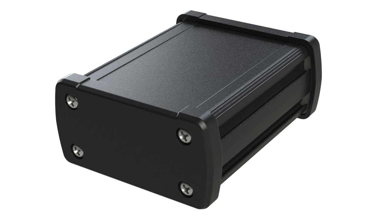 EX-51-01 Black extruded aluminum enclosure for electronics - 3.5 x 2.7 x 1.39 inches