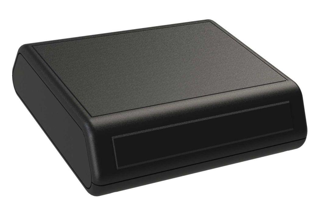 JB-55T*0000 Black indoor plastic desktop style enclosure for electronics - 5.5 x 5.25 x 1.63 inches