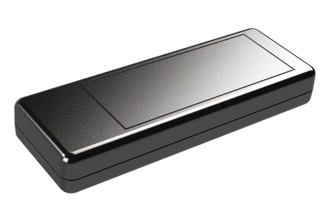KT-70MBT0 Black small plastic handheld enclosure for electronics - 5.5 x 2 x 0.8 inches