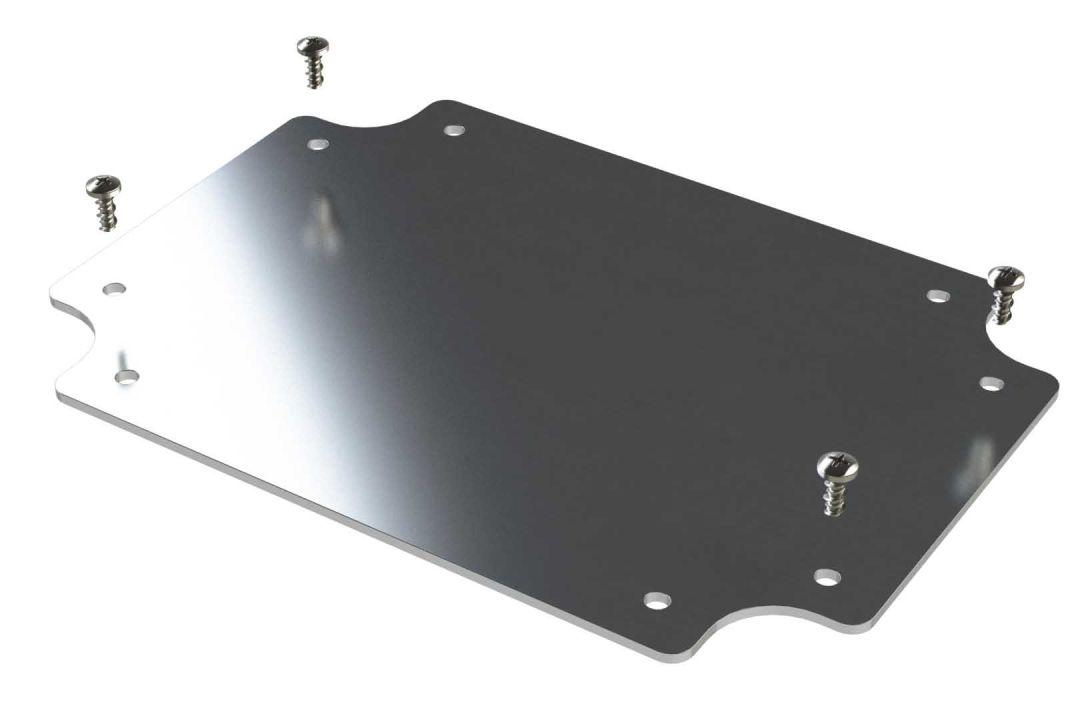 Internal aluminum mounting panel for ML-45 NEMA rated enclosure