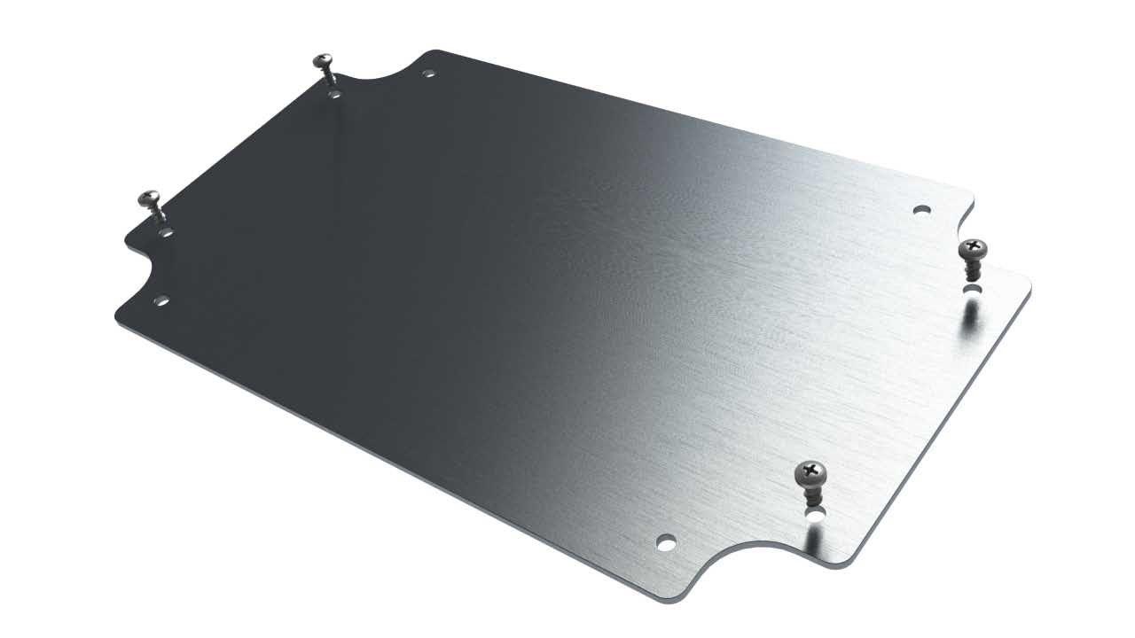 Internal aluminum mounting panel for ML-47 waterproof enclosure