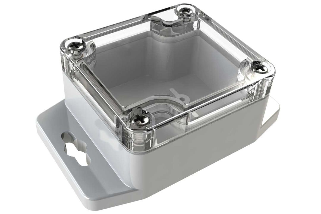 WC-20F*1508 Gray with Clear Cover outdoor NEMA 4x enclosure for electronics - 2.28 x 2.52 x 1.38 inches