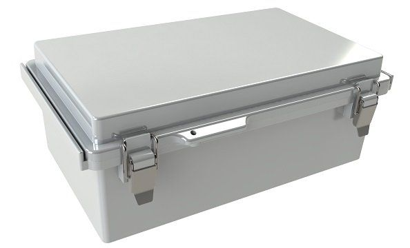 WQ-50-02 Gray outdoor waterproof hinged electrical enclosure - 10.24 x 6.3 x 3.94 inches