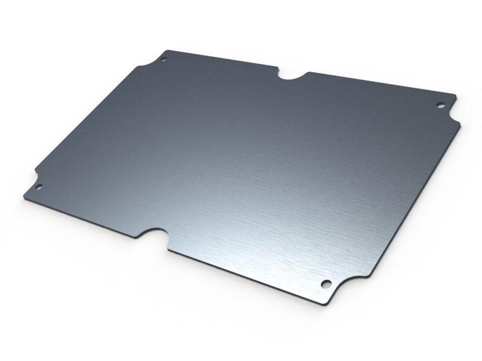 WX-26 Metallic internal mounting panel for Polycase NEMA enclosures - 8.27 x 5.27 x 0.06 inches