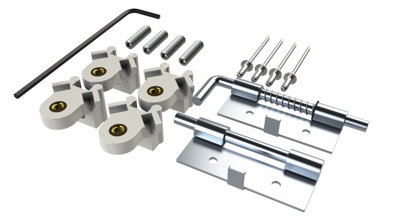 YX-94 suspension and hinge kit for internal mounting panel for YH series enclosures