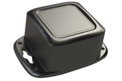 Small black plastic waterproof enclosure