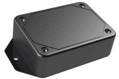 LP-21FMBT Black basic multi-purpose enclosure for electronics with flanges for surface mount applications and a Flush/Textured cover style - 3.29 x 2.42 x 1 inches