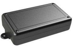SL-57FMBT Black indoor slim enclosure for electronics with PC mounting bosses - 5.63 x 3.25 x 1.38 inches