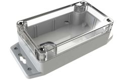 WC-21F*1508 Gray with Clear Cover outdoor NEMA 4x enclosure for electronics - 4.53 x 2.56 x 1.57 inches