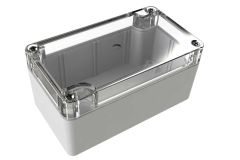 WC-22*1508 Gray with Clear Cover outdoor NEMA 4x enclosure for electronics - 4.53 x 2.56 x 2.17 inches