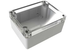 WC-23*1508 Gray with Clear Cover outdoor NEMA 4x enclosure for electronics - 4.53 x 3.54 x 2.17 inches