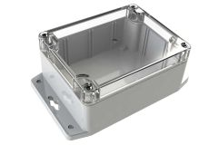 WC-23F*1508 Gray with Clear Cover outdoor NEMA 4x enclosure for electronics - 4.53 x 3.54 x 2.17 inches