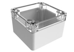 WC-31*1508 Gray with Clear Cover outdoor NEMA 4x enclosure for electronics - 3.23 x 3.15 x 2.17 inches