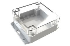 WC-36F*1508 Gray with Clear Cover outdoor NEMA 4x enclosure for electronics - 4.72 x 4.72 x 2.36 inches