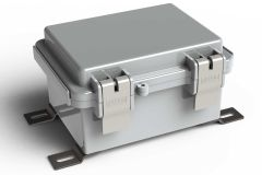 WH-02-02 Gray outdoor hinged waterproof NEMA electrical enclosure - 5.11 x 3.93 x 2.75 inches