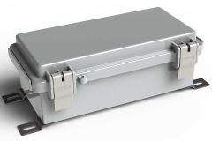 WH-06-02 Gray outdoor hinged waterproof NEMA electrical enclosure - 7.87 x 3.93 x 2.75 inches