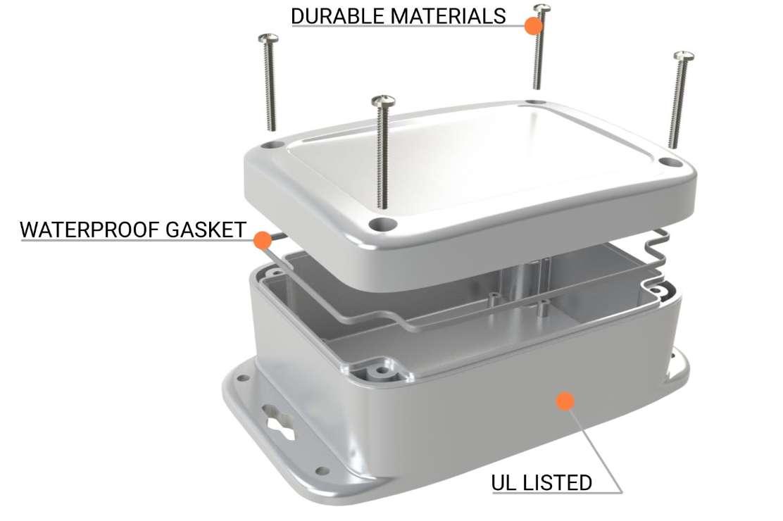 Waterproof NEMA boxes for electronics