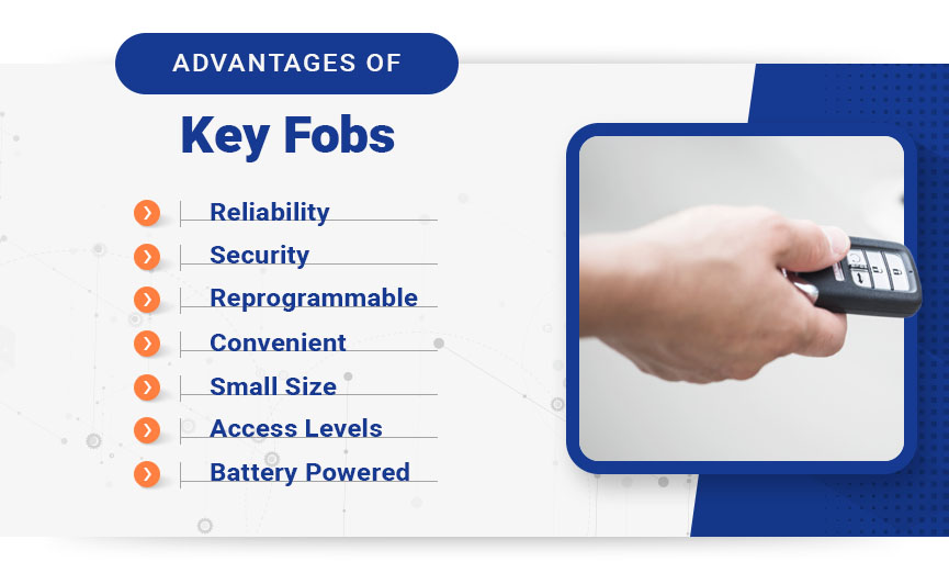 advantages of key fobs graphic