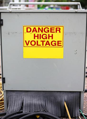 danger high voltage power supply box