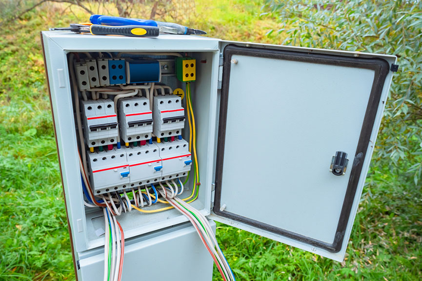 electrical enclosure with wiring